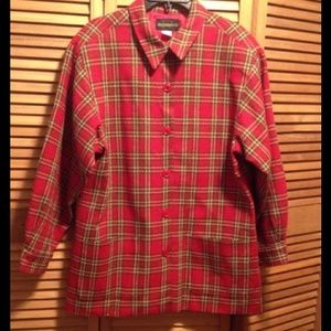Vintage Red and Green Plaid Blazer